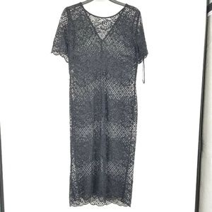 Donna Ricco Plus 16 Black Lace Dress 8BG40